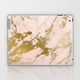 Champagne Blush Marble Laptop & iPad Skin