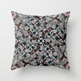 Abstract Digital Stoneware Throw Pillow