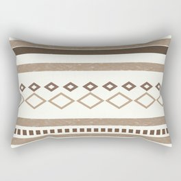 Western Pattern, Out West, Patterns, Brown, Tan, Beige, Shapes, Geometric Western Art Rectangular Pillow