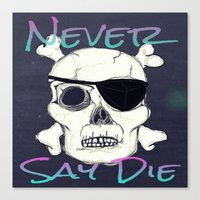 goonies Canvas Prints featuring Goonies Skull by Just Bailey Designs