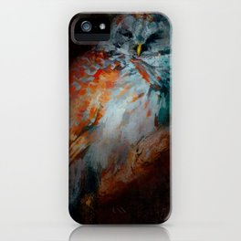 Abstract Barred Owl iPhone Case