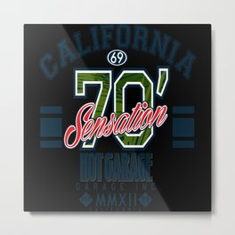 California Hot Motor Garage Metal Print