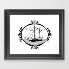 Sailing Ship Oval Framed Art Print