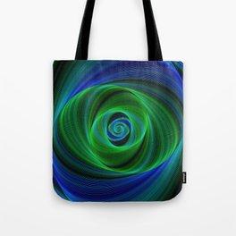 Green blue infinity Tote Bag