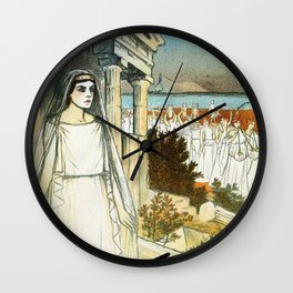 French opera ad Greek myth Helle 1896 Wall Clock