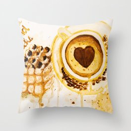 Caffee and cake Throw Pillow