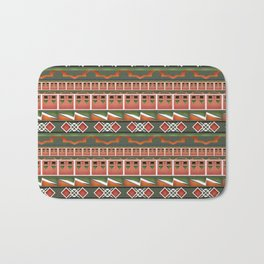 Colorful tribal ethnic ornament . Bath Mat