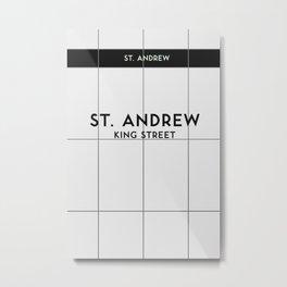 ST. ANDREW  | Subway Station Metal Print