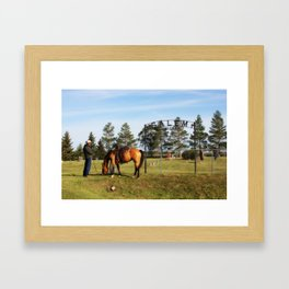 visitor Framed Art Print