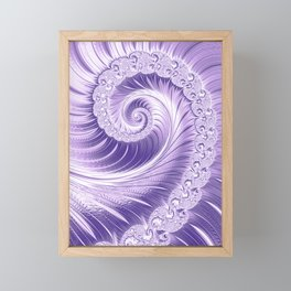 Ultra Violet Luxe Spiral Pattern | Trendy Color of the Year 2018 Framed Mini Art Print