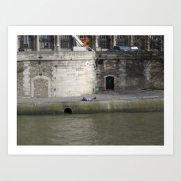 Naptime in Paris Art Print