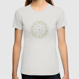Zodiac map cosmos universe moon-vibes galaxy space pattern green decor buyart,  society6 T-shirt