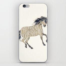 cream colored ponies iPhone Skin