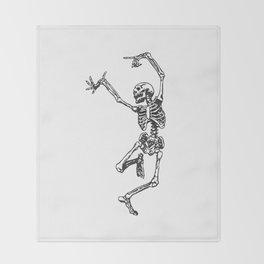 Dancer Skeleton Throw Blanket
