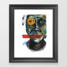 Geometry Face Framed Art Print