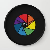 aperture Wall Clocks featuring Capture The Unicorn by Erik Sandi Satresa