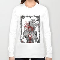 mad hatter Long Sleeve T-shirts featuring Mad Hatter by Mongolizer