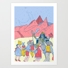 Kali dance Art Print