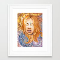 bad wolf Framed Art Prints featuring Bad Wolf by Mountain Laurel Arts