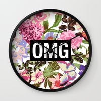 2pac Wall Clocks featuring OMG by Text Guy