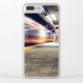 Traveling on Light Streams Clear iPhone Case