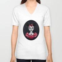 minnie V-neck T-shirts featuring Minnie M. by M. Adeline Nef