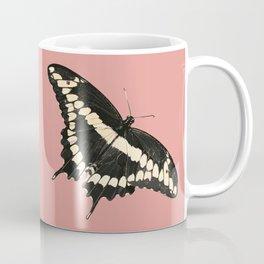 Butterfly Illustrated Print Coffee Mug