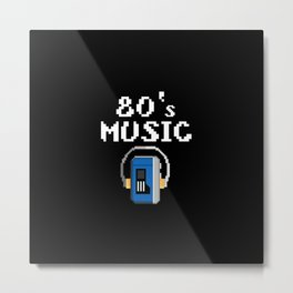 80s music walkman Metal Print