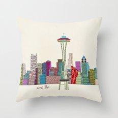 Seattle city  Throw Pillow