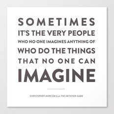 Imagine - Quotable Series Canvas Print