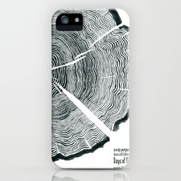 Tree Rings - Surely Your Goodness Will Follow Me All the Days of My Life (Psalm 23:6) iPhone Case