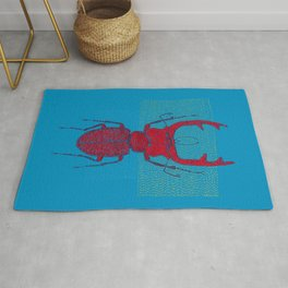 Stitches: Red stag Rug
