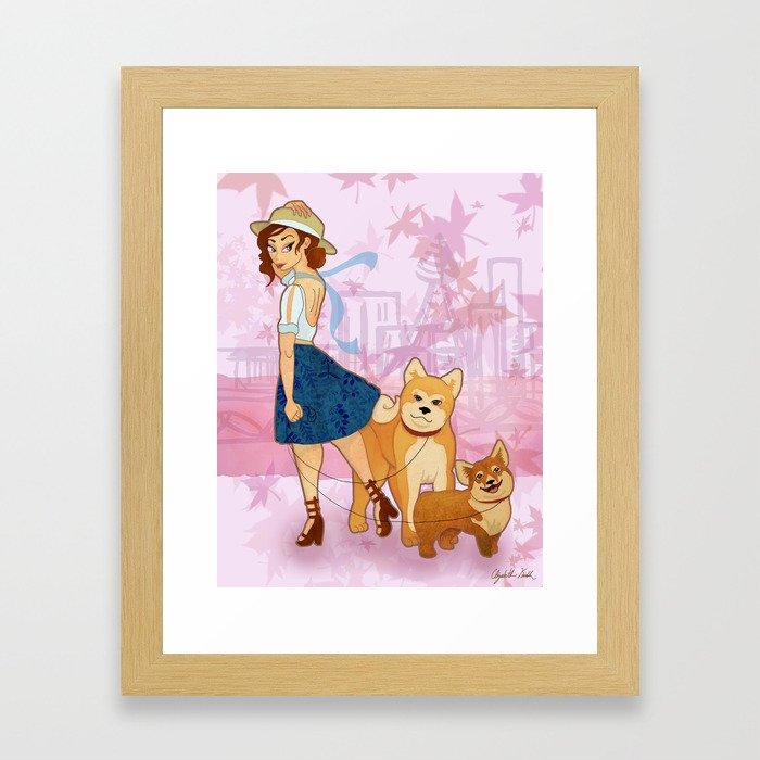 Woof La La Framed Art Print