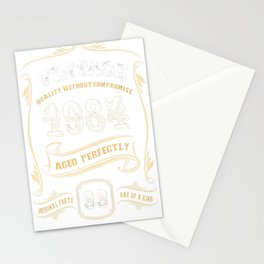 33rd-Birthday-Gift-Gold-Vintage-1984-Aged-Perfectly Stationery Cards
