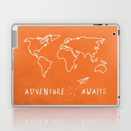 Adventure Map - Retro Orange Laptop & iPad Skin