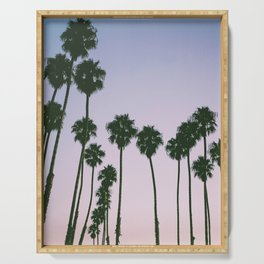 Palm Trees Sunset Serving Tray