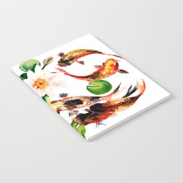 Koi Fish in Pond, Feng Shui Notebook