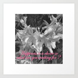 Happiness... isn't it all this is about? Art Print