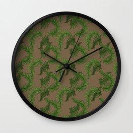 Fern Fronds - Coffee Wall Clock
