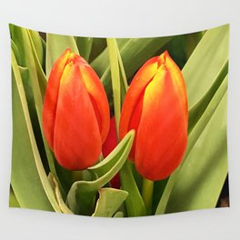 Two Tulips Wall Tapestry