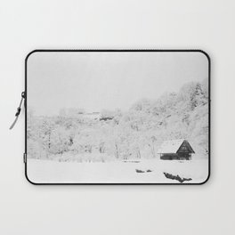 Winter Forest (Black and White) Laptop Sleeve