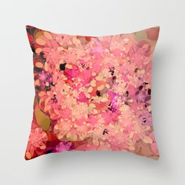 Two Different Worlds -- Floral Pattern Throw Pillow