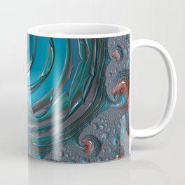 Oil Spot Light - Fractal Art Coffee Mug