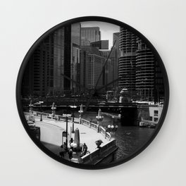 Chicago-Scape Wall Clock