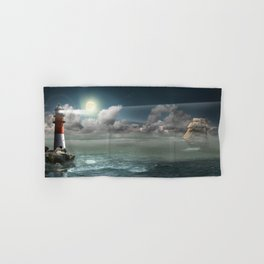 Lighthouse Under Back Light Hand & Bath Towel