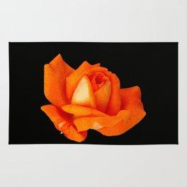 Orange Full Bloom Rose Rug