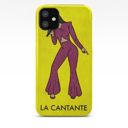 La Cantante The Performer Mexican Loteria Bingo Card iPhone Case