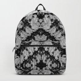 Black White Diamond Crochet Pattern Backpack