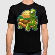 Turtle Burger MEDIUM Black Mens Fitted Tee
