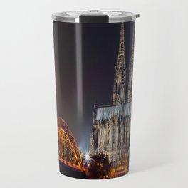 Cologne Cathedral at night Travel Mug